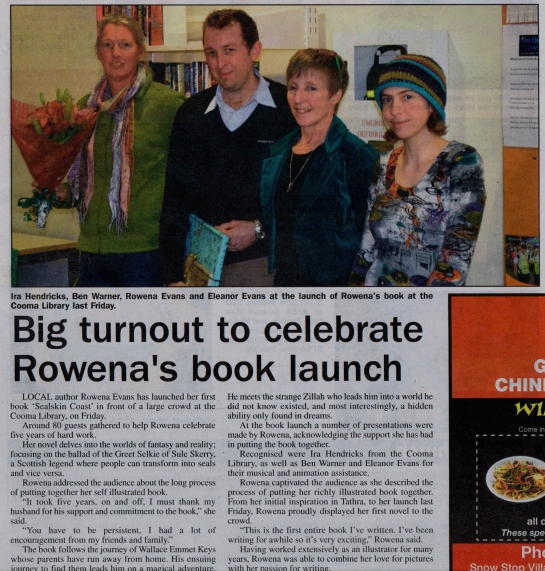 Clipping from the Monaro-Express, reporting on the success of the Book Launch