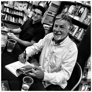 Jason and Steven at the signing desk - photo by George Ivanoff